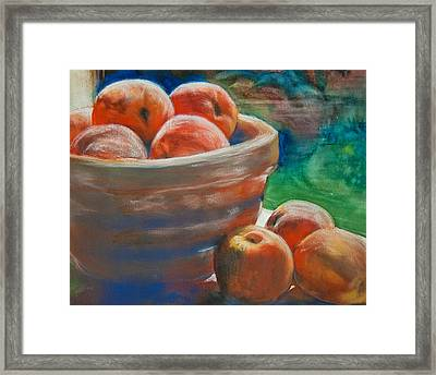 Peach Fuzz Framed Print