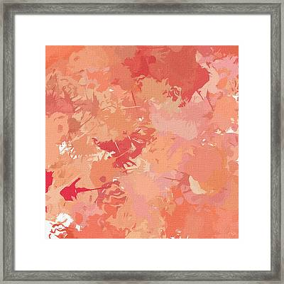 Peach Galore Framed Print by Lourry Legarde