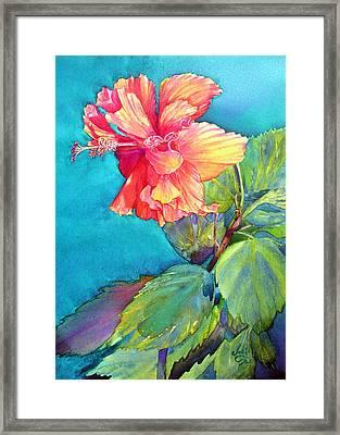 Peach Paradise Framed Print