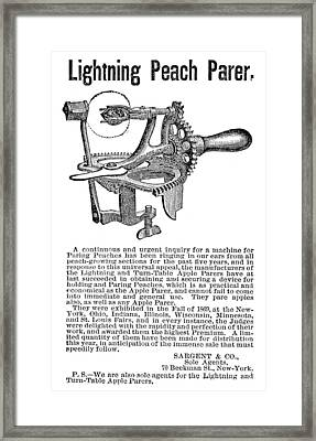 Peach Parer, C1876 Framed Print
