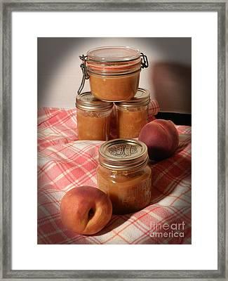 Peach Preserves Framed Print by Grace Dillon