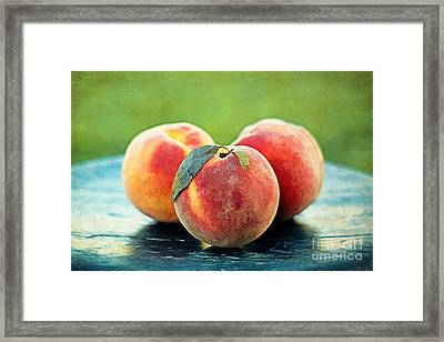 Peach Trio Framed Print