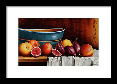 Peaches And Figs Framed Print