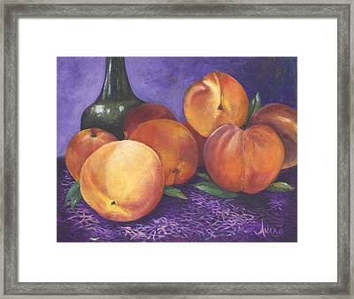 Peaches And Wine Framed Print