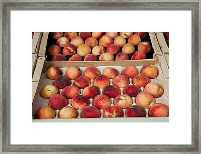 Peaches At A Market Stall, Lourmarin Framed Print by Panoramic Images