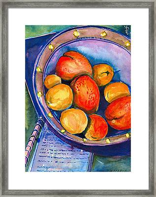 Peaches Framed Print by Ion vincent DAnu