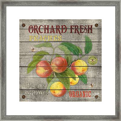 Peaches-jp2676 Framed Print by Jean Plout