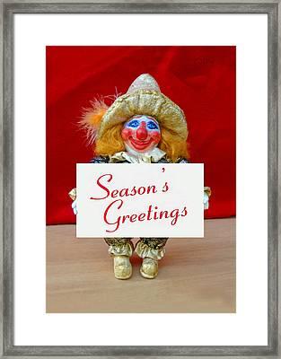Peaches - Season's Greetings Framed Print by David Wiles