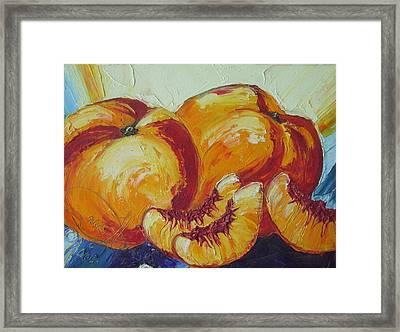 Peaches Study Framed Print by Paris Wyatt Llanso