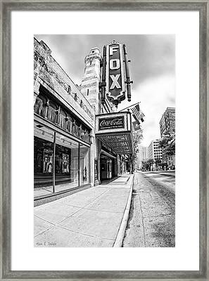 Peachtree Street And The Fox Theatre - Atlanta Framed Print