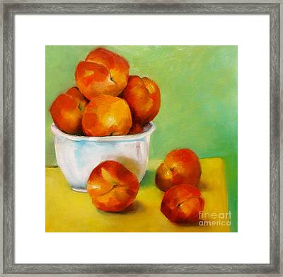 Peachy Keen Framed Print by Michelle Abrams