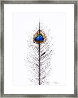 Peacock Abstract Framed Print