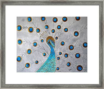Peacock And Its Beauty Framed Print