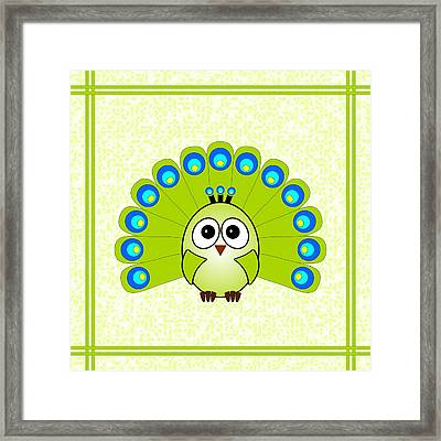 Peacock  - Birds - Art For Kids Framed Print by Anastasiya Malakhova