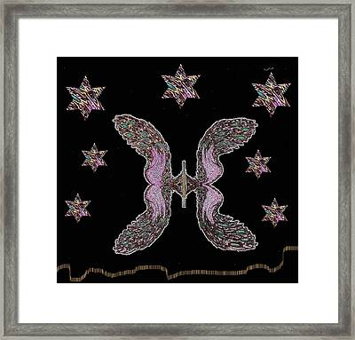 Peacock Butterfly Popart Framed Print by Pepita Selles
