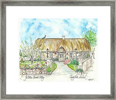 House Portrait Peacock Cottage Kanturk County Cork Ireland Framed Print
