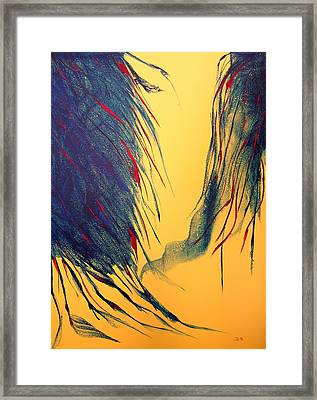 Peacock Framed Print by David Hatton