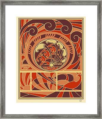 Peacock Decorative Ornament Framed Print by Ekaterina Shulzhenko