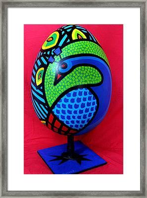 Peacock Egg Framed Print by John  Nolan
