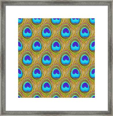 Peacock Eye Feather Framed Print
