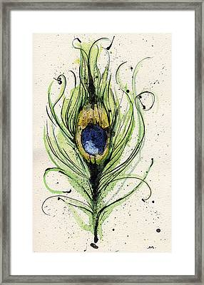 Peacock Feather Framed Print by Mark M  Mellon