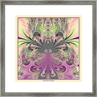 Peacock Feathers Bouquet Fractal 157 Framed Print by Rose Santuci-Sofranko