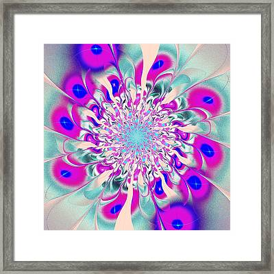Peacock Flower Framed Print by Anastasiya Malakhova