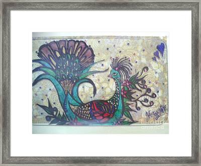 Peacock Goes Classy.. Framed Print by Harshita Chawla