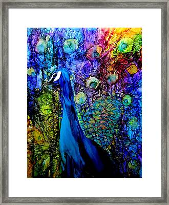Peacock II Framed Print by Karen Walker