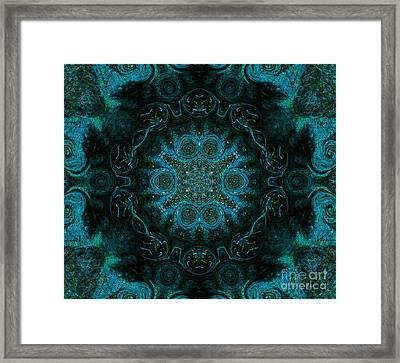 Peacock In The Kaleidoscope Framed Print