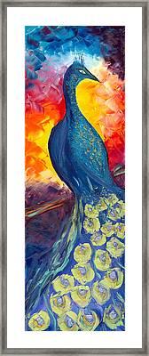 Peacock Framed Print by Jessilyn Park