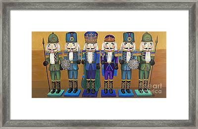 Peacock Nutcrackers  Framed Print by Patty Vicknair