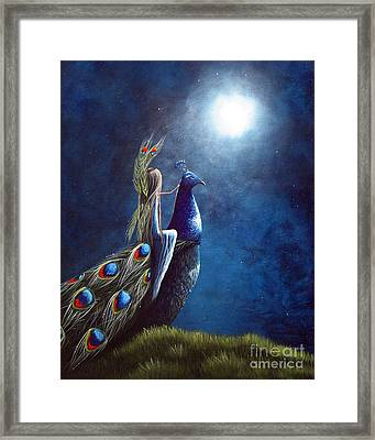 Peacock Princess II By Shawna Erback Framed Print by Shawna Erback