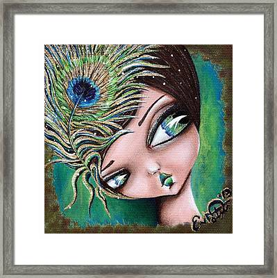 Peacock Princess Framed Print
