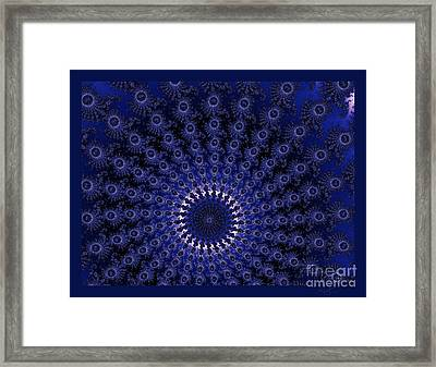 Peacock Spiral Framed Print by Amanda Collins