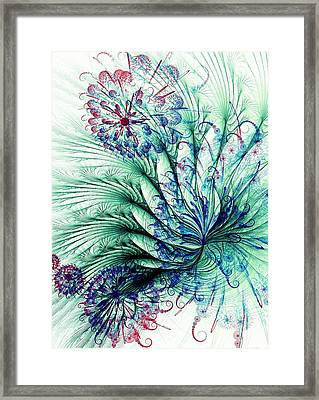Peacock Tail Framed Print by Anastasiya Malakhova