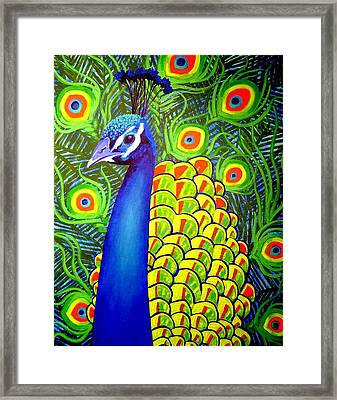 Peacock Vii Framed Print by John  Nolan