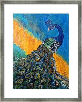 Peacock Waltz #3 Framed Print