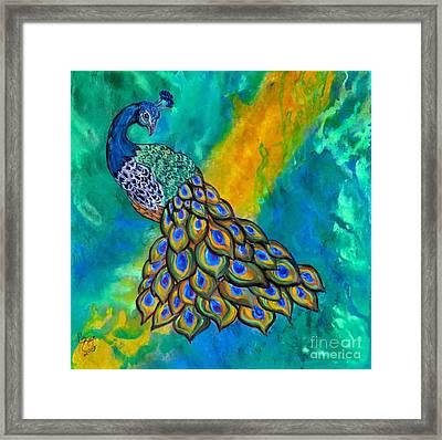 Peacock Waltz II Framed Print