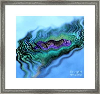 Peacock Wave Framed Print by Krissy Katsimbras