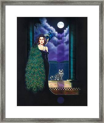 Peacock Woman Framed Print by Timothy Scoggins