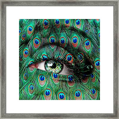 Peacock Framed Print by Yosi Cupano