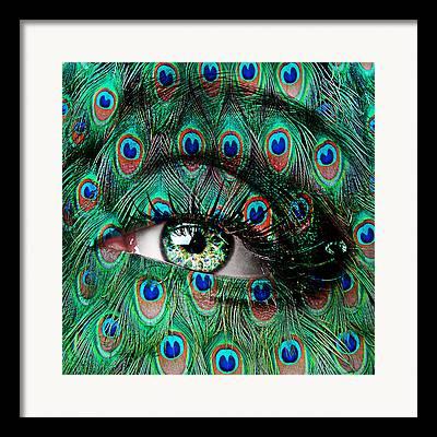 Eyebrow Digital Art Framed Prints