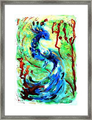 Peacock Framed Print by Zaira Dzhaubaeva