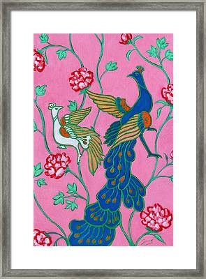 Peacocks Flying Southeast Framed Print by Xueling Zou