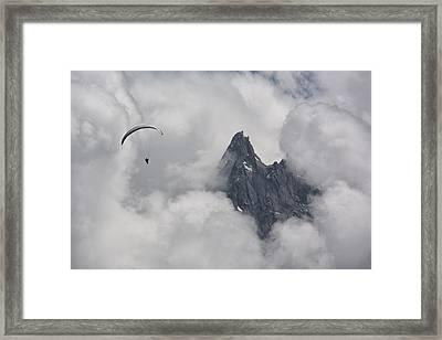 Peak Glide Framed Print by Wade Aiken