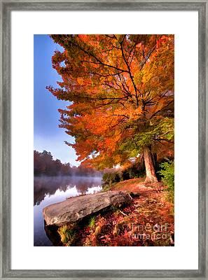 Peak Of Color - Blue Ridge Parkway Price Lake Framed Print
