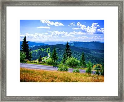 Peak Road Framed Print by GabeZ Art