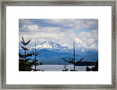 Peaking The Clouds Framed Print