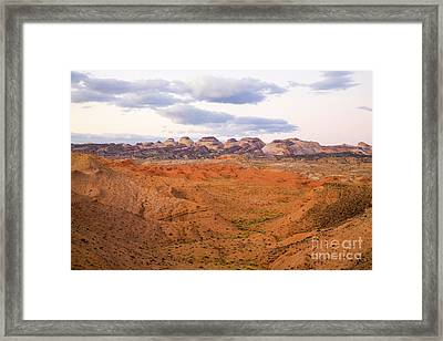 Peaks And Butte Capitol Reef  Framed Print